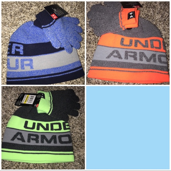 Under Armour boys hat glove sets 4-6 years new ec4f9135b36